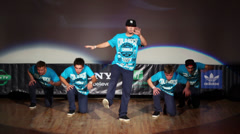 Check De Sound team perform during Hip Hop Cup of Russia 2012 Stock Footage