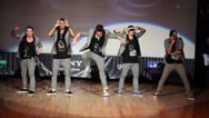 Stock Video Footage of Doberman team perform on stage during Hip Hop Cup of Russia 2012