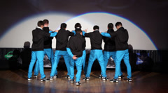 United Bit team perform during Hip Hop Cup of Russia 2012 Stock Footage
