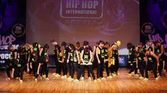 Blow Your Mind team perform during Hip Hop Cup of Russia 2012 Stock Footage