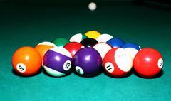 Balls for billiards Stock Photos