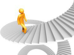 Ladder of success Stock Illustration