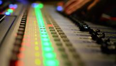 Audio engineer working Stock Footage