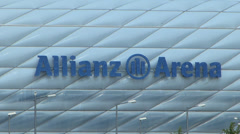 Europe Germany Munich Allianz Arena Football Stadium Stock Footage