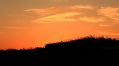 SUNSET OVER THE HILL Stock Footage