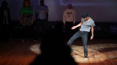 Members of Quick Style team dance at stage Stock Footage