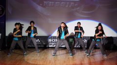 Adrenalin Crew perform during Hip Hop Cup of Russia 2012 Stock Footage