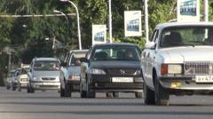 Traffic in Tajikistan Stock Footage