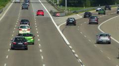 Europe Germany Munich Allianz Arena Football Stadium Autobahn Motorway Traffic Stock Footage