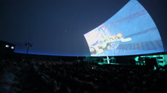 Andrey Klimkovsky represents concert program - stock footage