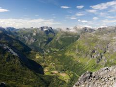 Geirangerfiorden in Norway Stock Photos