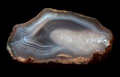 Detail of agate mineral Stock Photos