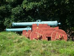 Stock Photo of Historic canons made of cast bronze