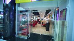Entrance to empty Japanese restaurant Kill Bill Stock Footage