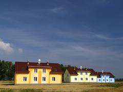 Modern colorfull houses - stock photo