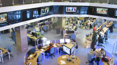 People in the office working at RIA Novosti Stock Footage