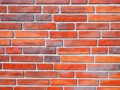 Texture of nice new brick wall Stock Photos