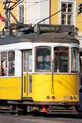Yellow tram Stock Photos