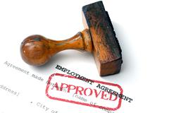 Employment agreement - approved Stock Photos