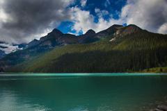 Glacial Lake in Banff National Park - stock photo