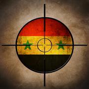 syria flag target - stock photo