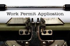 work permit application - stock photo