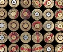 Ammo shells background - stock photo