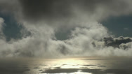 Stock Video Footage of Dreamy sunset clouds timelapse at sea