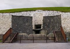 Entrance to the Newgrange ancient passage tomb - stock photo