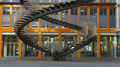 Tilt KPMG Munich office building in Westend district Stock Footage