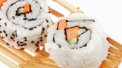 Rolls with Nigiri sushi Stock Footage
