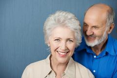Beautiful smiling elderly woman Stock Photos