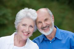 portrait of a loving senior couple - stock photo