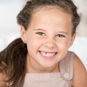 adorable beautiful little girl - stock photo