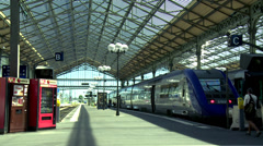 Train Station - Tours France Stock Footage