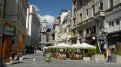 Old Center Of Bucharest Stock Footage