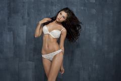 Stock Photo of sexy underwear model