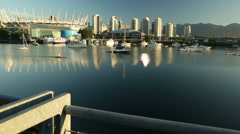 False Creek Paddle Camera Move Vancouver Stock Footage