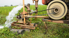 Water pump1 Stock Footage