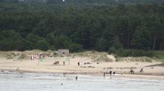 Wild beach Stock Footage