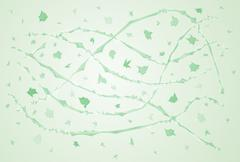 Green windy abstraction Stock Illustration