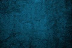 cracked blue wall - stock photo