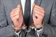 Handcuffed man Stock Photos