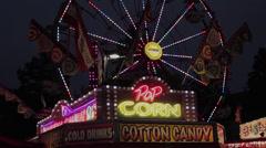 Street Fair Ferris Wheel at Night - stock footage
