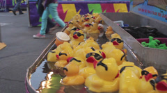 Rubber Duckies Racing Stock Footage