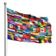 collection of flags - stock illustration