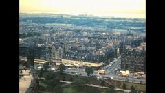 Edimburgh 1960: cityscape view from the castle Stock Footage