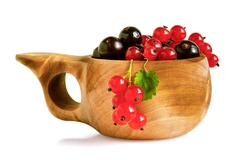 blackcurrant and redcurrant berries - stock photo