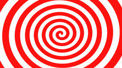 Red and White Hypnosis Spiral Stock Footage
