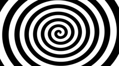 Black and White Hypnosis Spiral Stock Footage